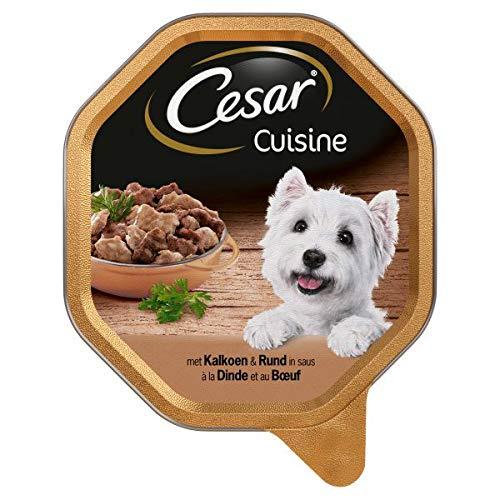 150 GR Cesar alu cuisine kalkoen/rund in saus hondenvoer