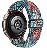 OTOPO Elastic Bands for Galaxy Active 2 40/44mm Bands/Galaxy Watch 42mm/Galaxy Watch 3 41mm/Active 40mm,Adjustable Nylon Fabric Stretchy Loop WristbandStraps for Samsung Galaxy Watch Active 2