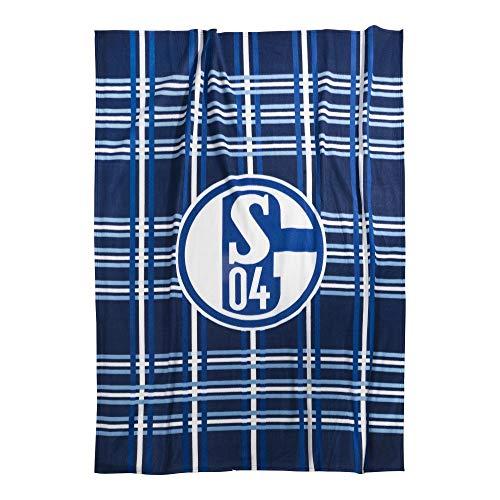 FC Schalke 04 Decke Fleecedecke kariert 22693 Fanartikel