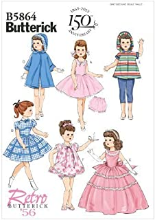 Butterick Retro '56 Pattern B5864 / BP268 18-Inch Doll Clothes