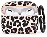 AIRSPO Silicone Cover Compatible AirPods Pro Case Floral Print Protective Case Skin for Apple Airpod Pro Charging Case 2019 LED Visible Shock-Absorbing Soft Slim Silicone Case … (Leopard Print)