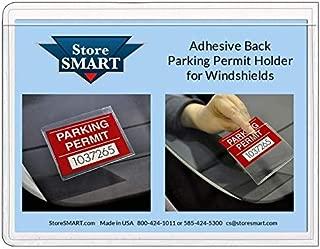 StoreSmart - Parking Permit Holder for Windshields - Adhesive Back - Single Pack - PSR-PARK-1045L