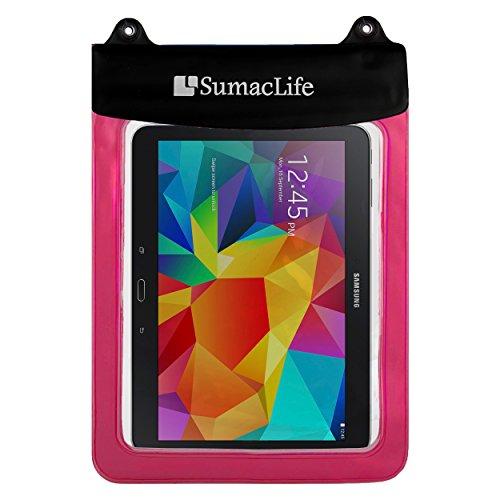 wasserdichte Tablet-Tasche (Rosa) mit Umhängeband – kompatibel mit Apple iPad Mini 5/4/3, Samsung Galaxy Tab A/4/3/S2, Lenovo Tab 4 Plus, perfekt für Schwimmbad, Strand, Bad, Reisen Rose 12.9-inch