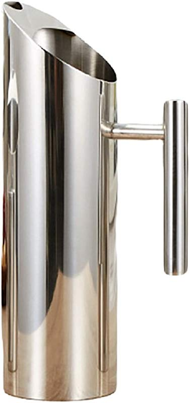 Popoye Stainless Steel Water Pitcher With Ice Guard For Bar Home 1 5L 52 Oz