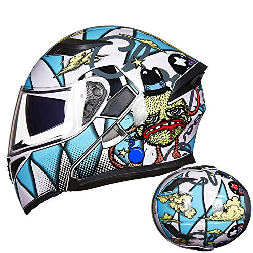 Men and Women Motorcycle Flip Up Helmet Modular Moto Racing Cycling Helmets Outdoor...