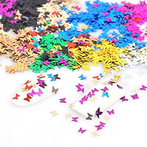 nagel glitzer Schmetterling Glitzer Für Gesicht Holografisch nagel nail art körper glitzer Laser Farbe Flash Geeignet für alle Arten von Maskerade (10G Butterfly)