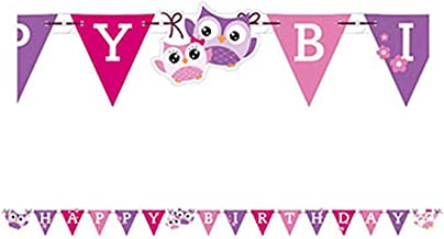 Owls Happy Birthday Letter Banners