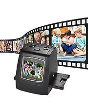 Aibecy 14MP/22MP-filmscanner met hoge resolutie converteert 35 mm 135 mm 126 mm 110 mm 8 mm kleur monochrome diavoorstelling negatief naar digitaal beeld met 6,1 cm LCD-ingebouwde bewerkingssoftware (35/135/126/110/8mm)