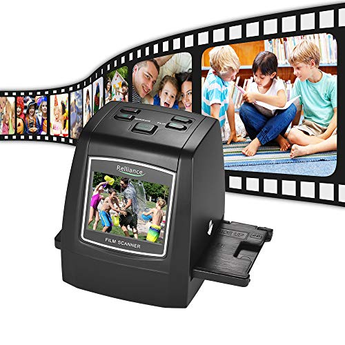 "Aibecy Diascanner Negativscanner 14MP/22MP Filmscanner Convert 35mm 135mm 126mm 110mm 8mm Color Monochrome Slide Film Negative into Digital Picture with 2.4"" LCD Build-in Editing Software"