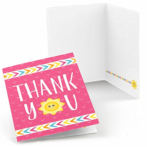 Big Dot of Happiness You are My Sunshine - Baby Shower or Birthday Party Thank You Cards (8 Count)
