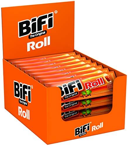 BiFi Roll – Herzhafter, original Salami Fleischsnack – Snack im Teigmantel – 24er Pack (24 x...
