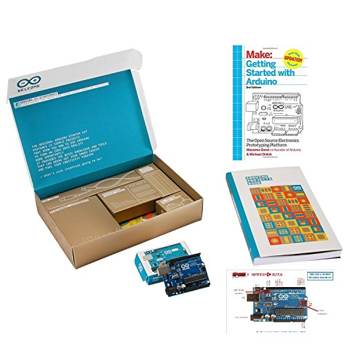 Arduino The Official Starter Kit Deluxe Bundle with Make: Getting Started The Open Source Electronics Prototyping Platform 3rd Edition Book