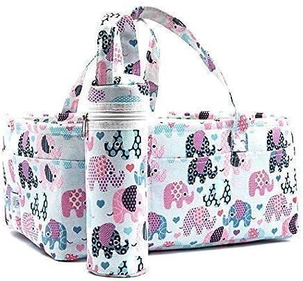 Organizador de pañales para bebé., L, Multicolor