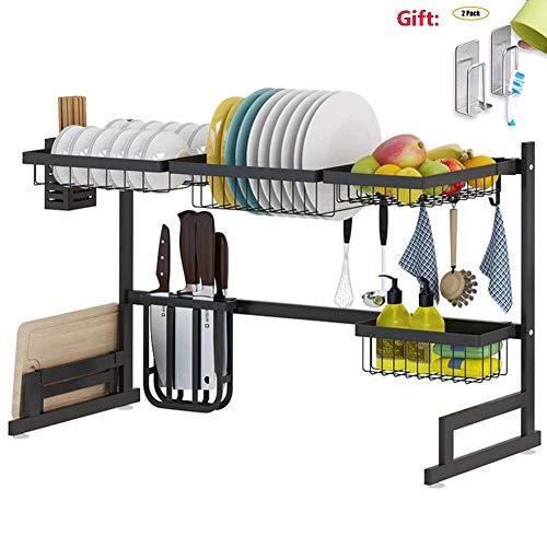 XUE Support à égouttoir en Acier Inoxydable Cuisine évier Plat Vaisselle Fournitures de Cuisine Rangement Rack Organisateur Workstation Shelf Cuisine Cuisine Safe Shelf Simple 65 cm,85cm