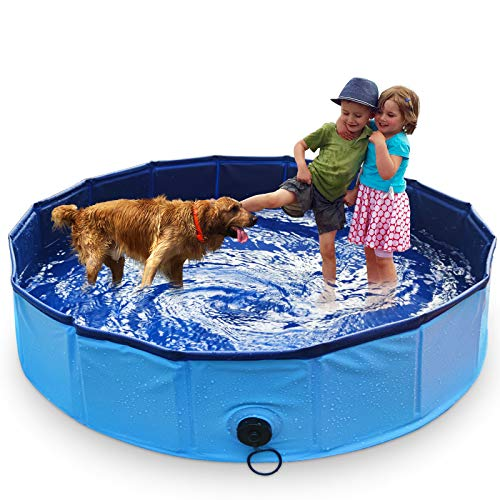MARUNDA Foldable Dog Pool,Pet Swimming Pool for Dog Pools for Large Dogs, 63 x 12 inch for Slip-Resistant Material Kids Pool.…