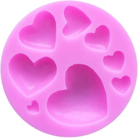 TREXEE 3D Silicone Loving Heart Shaped Baking Mold Fondant Cake Tool Chocolate Candy Cookies Pastry Soap Moulds (Pack of 1)