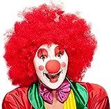 Balinco Peluca XXL roja Afro para Disfraz de Payaso - Peluca Afro para Hombre y Mujer Adecuada como complemento del Disfraz de Payaso