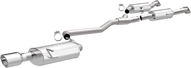 MagnaFlow Exhaust Products 15139 MF Series Performance Cat-Back Exhaust System 2.5 in. Incl. Resonator/MidPipe/5x8x14 in. Muffler/4 in. Round Tips Single Straight Pass. Side Rear Exit Stainless MF Series Performance Cat-Back Exhaust System