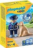 PLAYMOBIL 1.2.3 70408 Policía con Perro, De 1,5 a 4 años