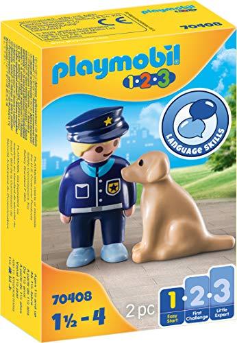 PLAYMOBIL 1.2.3 70408 Policía con Perro
