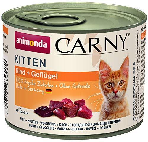 Nourriture pour chat Carny Kitten d'animonda, nourriture humide pour chat jusqu'à 1 an, bœuf +...