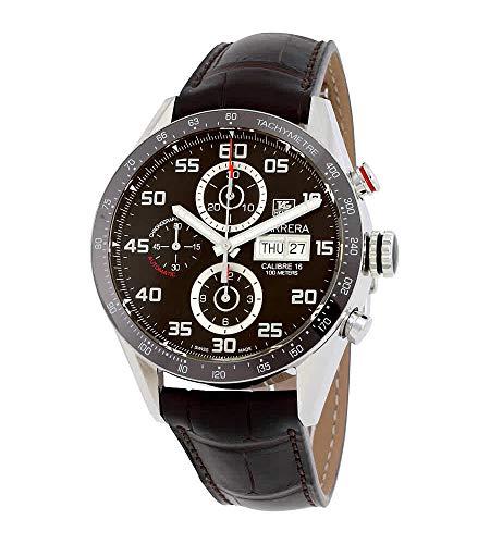 Tag Heuer Carrera 43mm Crono giorno Data Automatico Mens Watch CV2A1S.FC6236