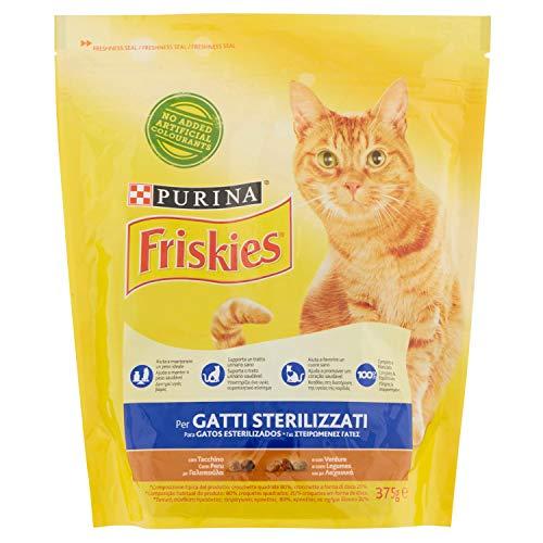 Purin Friskies Kroketten Ideal für Katzen sterilisiert Gusto Truthahn und Gemüse Aufgenommen Stück 375Gramm