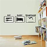 Wandtattoo Wandsticker Wandaufkleber,Essen Schlaf Trampolin Wandaufkleber, Vinyl Trampolin...