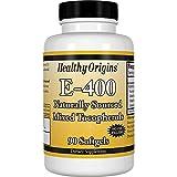 Healthy Origins Vitamin E - 400 LU Natural Mixed Toco Gels, 90 Count