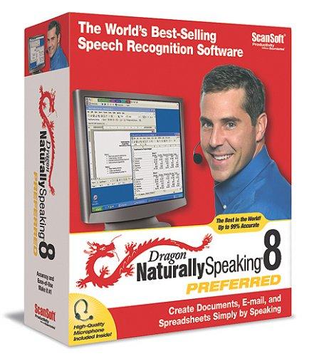 nuance software utilities Dragon NaturallySpeaking 8 Preferred (Old Version)