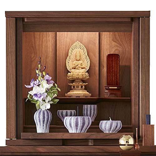 【お仏壇のはせがわ】 仏壇 ソリッドボードジャスト by カリモク家具 ウォールナットナチュラル 高さ49cm モダン おしゃれ ミニ