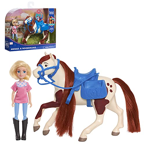 DreamWorks Spirit Riding Free Collector Doll & Horse - Abigail & Boomerang, Multi-Color, 5 inches