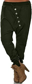 TOPUNDER Girlfriend Hipsters Harem Pants for Women Fashion Bloomers Baggy Pants Trousers