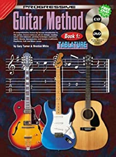 Progressive Guitar Method Tablature Book, CD and DVD by Turner, Gary (2005) Paperback