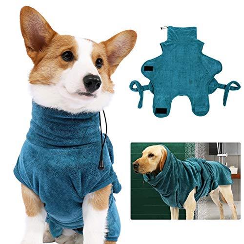 Albornoz para perro súper absorbente traje de baño para perros pequeños, medianos y grandes, secado rápido, toalla de baño para mascotas, ropa para perros corgi