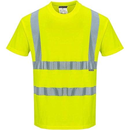 Portwest s170yer5X L algodón comodidad camiseta de manga corta para, Regular, tamaño 5X -LARGE, Yellow
