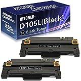 2 Pack (Black) D105L Series Toner Cartridge Replacement for Samsung ML1910 SF650 SF650P SCX4623FW SCX4623FN SCX4623F SCX4623 SCX4600 ML2580N ML2545 ML2540 ML2525W ML1915 SCX462x Series Printers.