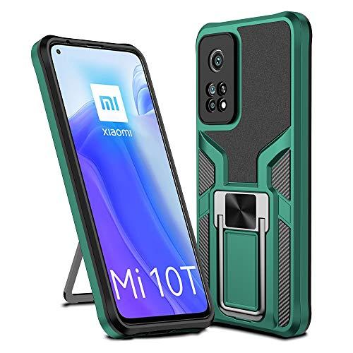 Funda de teléfono móvil compatible con Xiaomi Mi 10T Pro, funda de silicona TPU, funda protectora Xiaomi Mi 10T Pro Case Armor, funda protectora 360 grados (verde, Xiaomi Mi 10T Pro)