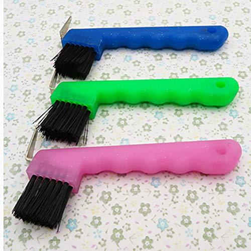 3Pc Goederen Voor Tweeërlei Gebruik Soft Grip Hoevenkrabber Horse Cleaning Brush Grooming Gereedschap Dust Equestrian Equipment Farm Animal Supplies