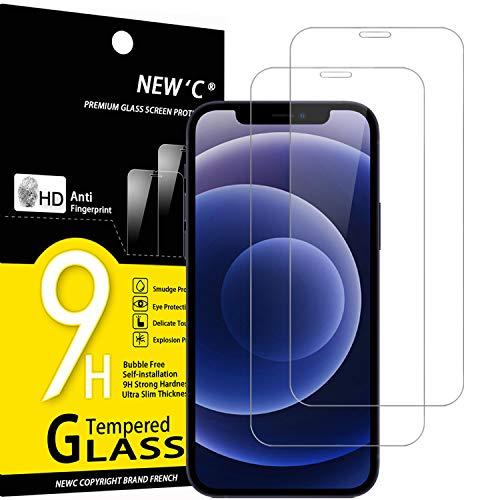 """NEW'C 2 Stück, Schutzfolie Panzerglas für iPhone 12 Mini (5.4""""), Frei von Kratzern, 9H Härte, HD Displayschutzfolie, 0.33mm Ultra-klar, Ultrabeständig"""