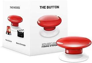 FIBARO The Button rood/Z-Wave Plus draadloze draagbare schakelknop, rood, FGPB-101-3