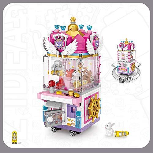Xpixel Mini Shops Blocks - Máquina de Grua de Juguetes - Se Abre y se Puede Jugar con el Interior - Juguete de Construcción - Bloques Tamaño Mini - Construye tu Propia Mini Avenida