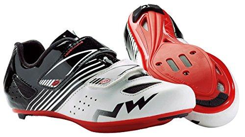 Northwave NW zapatos Torpedo JUNIOR ROAD white-black-red 37