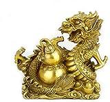 Scultura,Statua del Drago Dello Zodiaco In Ottone Decorazioni Di BUON Auspicio Home Office Ornamento Fortunato Ricchezza E Buona Fortuna Scultura