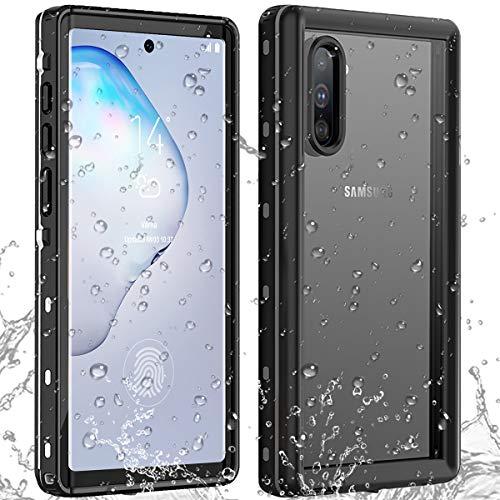 AICase Funda Impermeable Galaxy Note 10+ Plus [Anti-rasguños][Protección de 360 Grados],Case Protectora con Protector de Pantalla Incorporado para Samsung Galaxy Note 10 Plus (Note 10 Plus)
