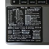 SYNERLOGIC (M1+Intel) Mac OS Big Sur/Catalina/Mojave Keyboard Shortcut Sticker - Black Vinyl, No-Residue Adhesive, Compatible with 13'-16' MacBook Air/Pro iMac Mac Mini