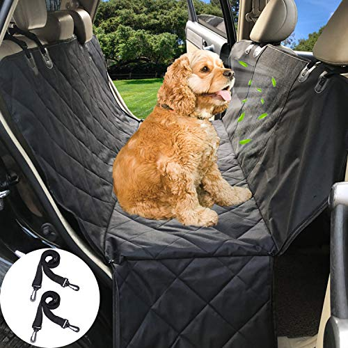 Dog Seat Cover Car Seat Cover for Pets 100% Waterproof Pet Seat Covers with Mesh Window, Hammock 600D Heavy Duty Scratch Proof Nonslip Durable Soft Pet Back Seat Covers for Cars Trucks and SUVs