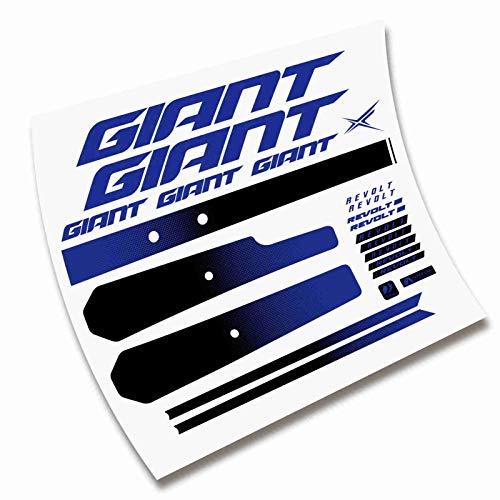 Kit Pegatinas Cuadro Completo para Bicicleta Giant Revolt 2020 2021 Gravel (Azul Brillante)