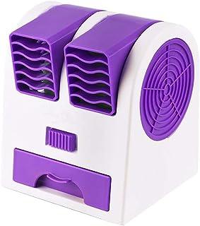 Aire acondicionado portátil de FAN, Personal Mini espacio de aire más frío, silencioso ventilador del escritorio, mini refrigerador evaporativo humidificador con batería o 11x12x14cm azul USB (4x5x6in