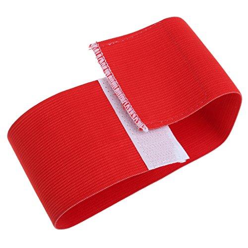 Sharplace Fußball Kapitän Armbinde, Kapitän Armband mit Klettverschluß - Rot